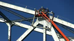 Cape cod canal bridge workers; 7 Stock Footage