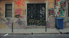 Rua da rosa grafiti Stock Footage