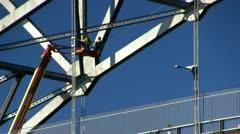 Cape cod canal bridge repair; 2 Stock Footage