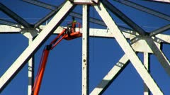 Cape cod canal bridge repair; 4 Stock Footage