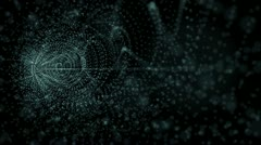 3d particle tunnel Stock Footage