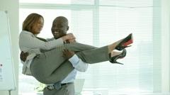 Stock Video Footage of Office romance