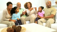 Extended Ethnic Family Home Games Fun  - stock footage