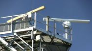 Stock Video Footage of Radar Tower & surveillance; 3