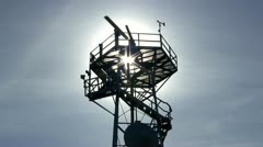 Stock Video Footage of Marine traffic control radar tower; 2