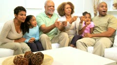 African American Family Hand Held Games Entertainment  Stock Footage
