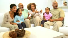Extended Ethnic Family Home Games Fun  Stock Footage