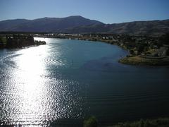 Lake Dunstan, Cromwell - stock photo
