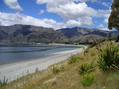 Lake Hawea - stock photo