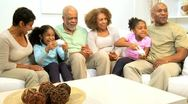 African American Family Home Games Entertainment  Stock Footage
