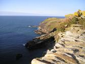 Tintagel coast Stock Photos
