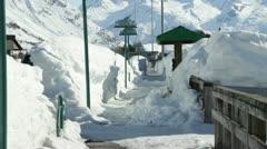 Valdez Alaska Deep Snow Pan HD Stock Footage