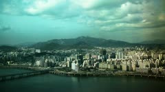 Time Lapse from building 63 Seoul South Korea Stock Footage