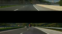 Montage HD Transportation clip driving on highway Stock Footage