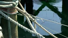 Secured bow lines cape cod - stock footage