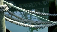 Secured bow lines cape cod; 2 - stock footage