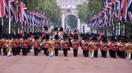 London Royal Guards Procession Stock Footage