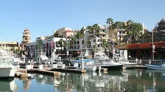 Harbour cabo san lucas baja california sur mexico Stock Footage