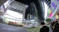 Stock Video Footage of City Timelapse at Night. Hong Kong.