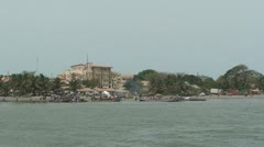 Gambia ferry - stock footage