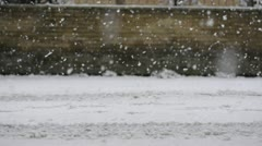 snow in Rome, February 2012 - stock footage
