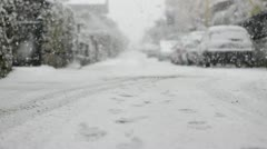 Snow in Rome, February 2012 Stock Footage