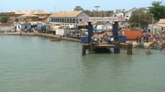 Gambia ferry Stock Footage