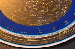 Planisphere Star Map in stop motion Stock Footage