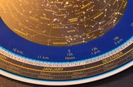 Stock Video Footage of Planisphere Star Map in stop motion
