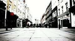 Designer shops, London - time-lapse Stock Footage