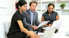 Smart Advertising Team Brainstorming Current Promotion  - stock footage