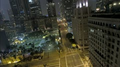 Top of building Down Town Los Angeles pershing square time lapse  Stock Footage