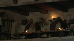 Last supper 01 Stock Footage
