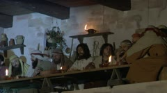 last supper 02 - stock footage