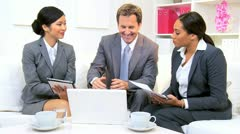 Male Caucasian Business Executive Informal Meeting  - stock footage