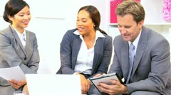 African American Advertising Executive Office Team Meeting  - stock footage
