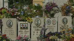 Family resting place in Italian cemetery Stock Footage
