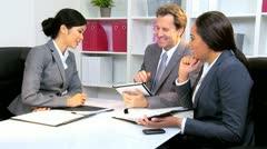 Stock Video Footage of Multi Ethnic Business Team Success Congratulations