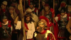 Via crucis 01 Stock Footage