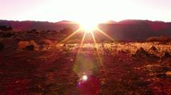 Sierra Nevada Mountains HD720 05 Sunset Stock Footage