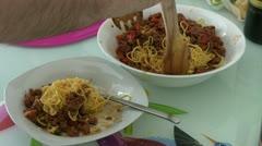 Spaghetti bolognese Stock Footage