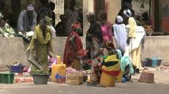 Senegal market - stock footage