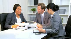 Business Meeting Corporate Client  Stock Footage