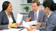Meeting Multi Ethnic Business Team  Stock Footage
