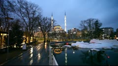 evening view of the city of konya - stock footage
