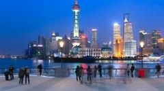 "Shanghai in China, timelapse(panning).>>>Please search more: ""ShanghaiSkyline"" Stock Footage"
