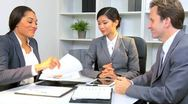 Female Asian Chinese Executive Business Team  Stock Footage