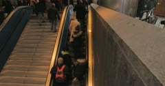 timelapse munich escalator 4K - stock footage