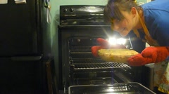 Baking Fresh Apple Pie Stock Footage