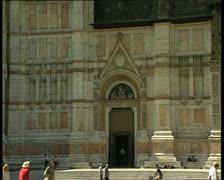 Bologna san petronio portals pan Stock Footage